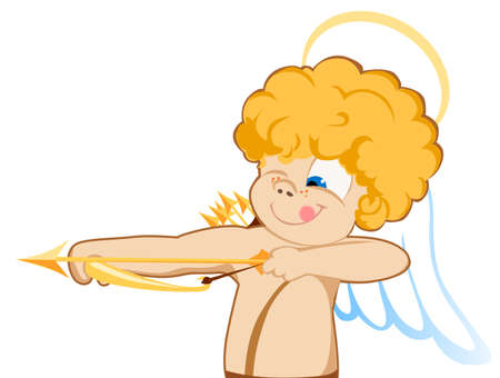 the vector illustration of angel