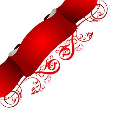 christmass: Vector illustration of floral banner