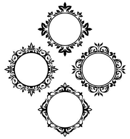 kreis: Jahrgang Kreis Frameset Illustration