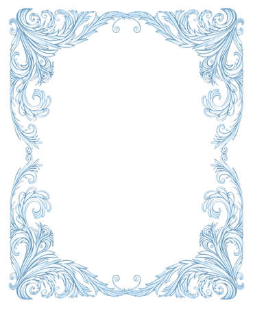 Frost frame classic style, like frost on the window Illustration