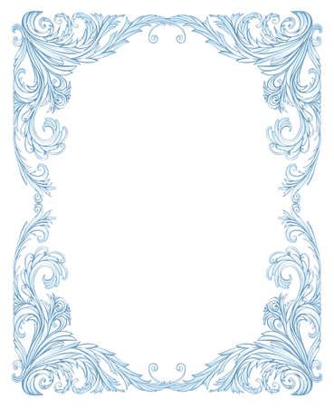 Frost kader klassieke stijl, net als rijp op het raam