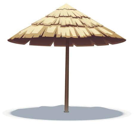 ombrellone spiaggia: illustrazione vettoriale di Palm Beach Leaf Umbrella Vettoriali