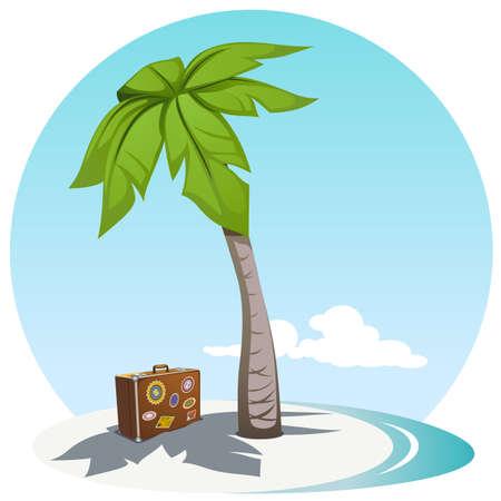 vector illustration of island coast Illustration