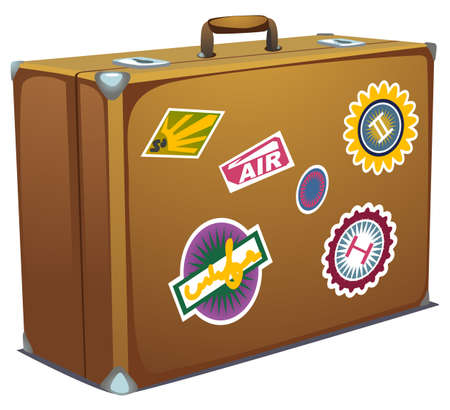 suitcases: Vector illustration of suitcase