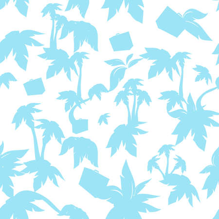 The seamless texture with palms