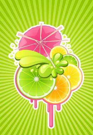 Vector achtergrond met cocktail voor partij ontwerp