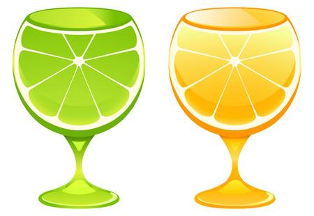 illustratie van cocktailglas