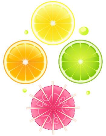 Set van vector cocktail elementen