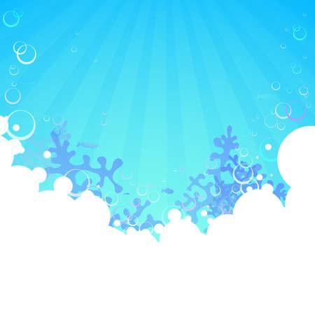 Vector illustratie van onderwater achtergrond