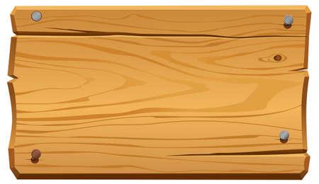 illustratie van houten frame