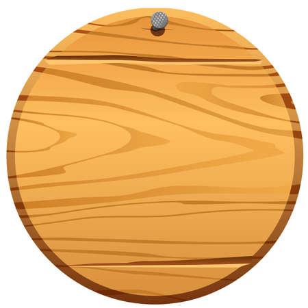 illustration of circle wood frame