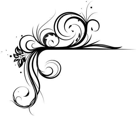 Vector floral corner for design