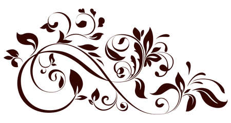 baroque pattern: illustration of floral ornament Illustration
