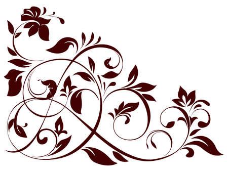 illustratie van bloemen ornament Vector Illustratie