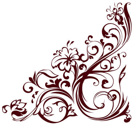 illustratie van bloemen hoek Vector Illustratie
