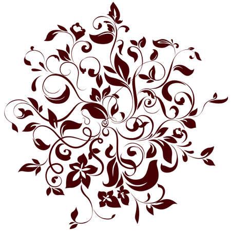 illustratie van bloemen cirkel