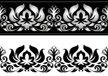 Vector illustratie van bloemen grens Stock Illustratie