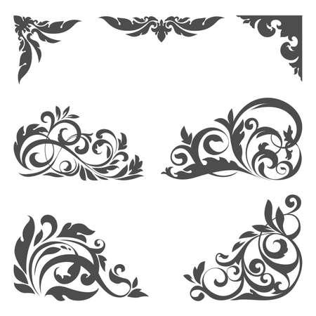 set met bloemen elementen voor ontwerp