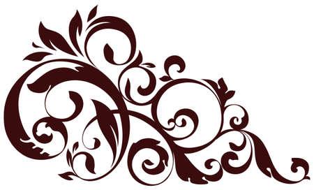 Floral element for design illustration. Illustration