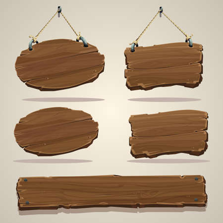 wood planks: Wood board on the rope.