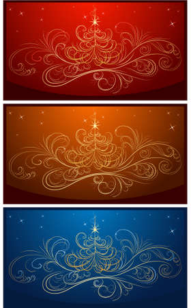 set of vector christmass backgrounds