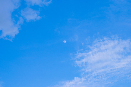 The moon in the daytime sky