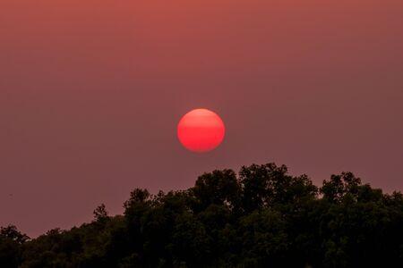 horizon over water: Beautiful cloudscape over the tea, sunset shot
