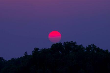 Beautiful cloudscape over the tea, sunset shot