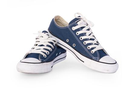 Zapato de primer plano aislado en pantalla blanca