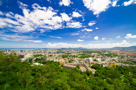 View of khao-rang viewpoint At phuket thailand
