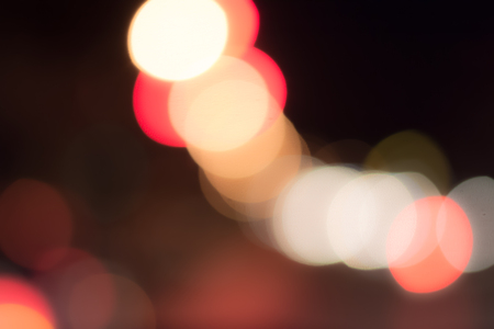 Abstracts background. Bokeh traffic car light in transportion on road.