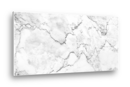Marble panel isolated on white screen