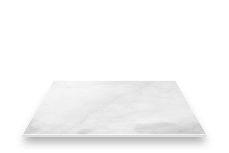 White marble perspective. isolated on white screen. Standard-Bild