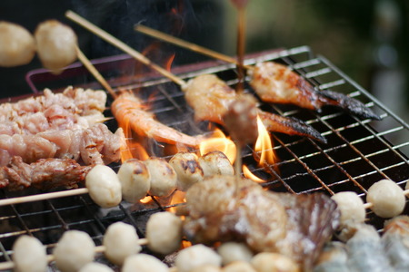 Grill food in the summer holiday.