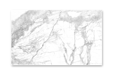 Close up- White marble panel isolated on white screen