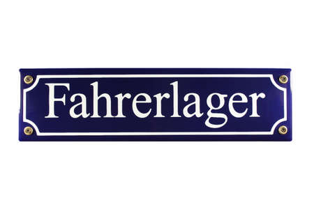 Fahrerlager German Enamel Street Sign