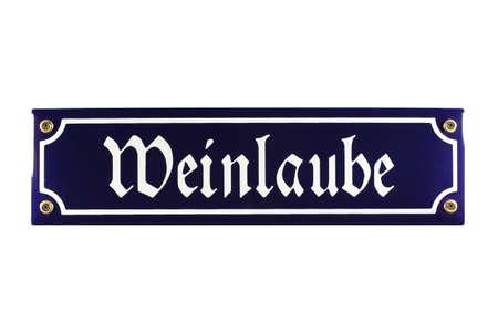 emaille: Weinlaube German Enamel Street Sign