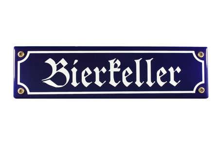 Bierkeller German Enamel Street Sign
