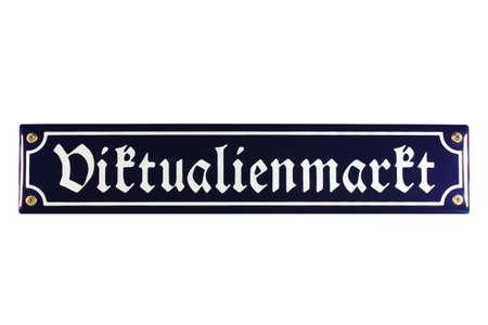 emaille: Viktualienmarkt M�nchen German Enamel Street Sign