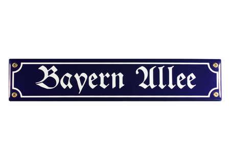 Bayern Allee München German Enamel Street Sign