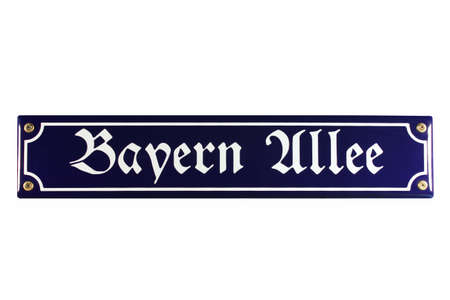bayern: Bayern Allee M�nchen German Enamel Street Sign