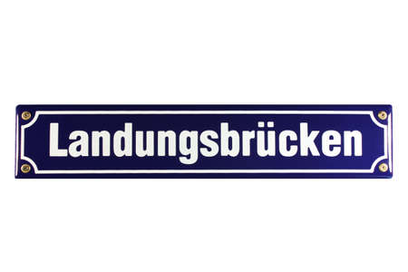 Landungsbrücken Hamburg St  Pauli German Enamel Street Sign