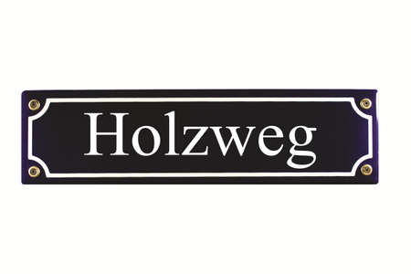 Holzweg German Enamel Street Sign photo