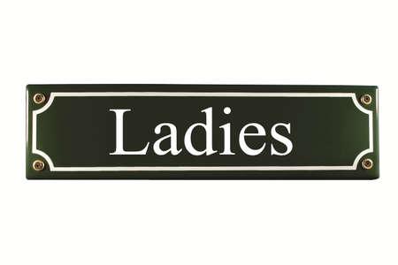 Ladies Enamel Toilet Door Sign