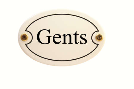 gents: Gents ovale smalto Toilet Sign Door Archivio Fotografico