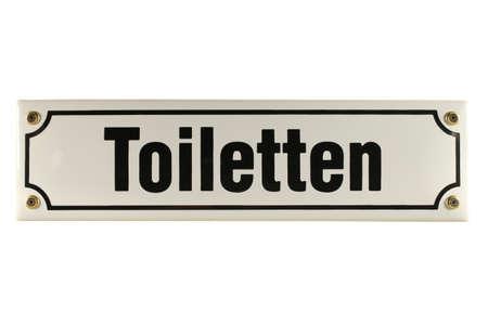emaille: Toiletten German enamel Door Sign Stock Photo