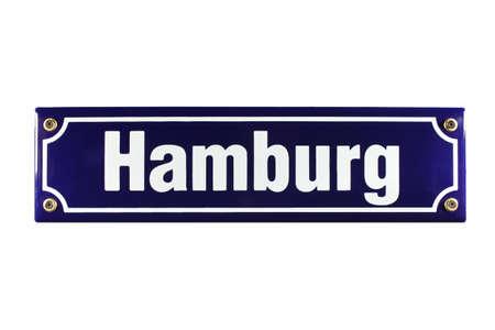 Hamburg German enamel Street Sign