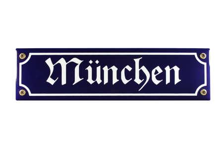 München German enamel Street Sign