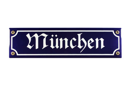 emaille: M�nchen German enamel Street Sign
