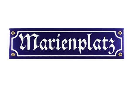 Marienplatz München German enamel Street Sign